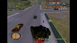 Driving an upside down tank in Grand Theft Auto III
