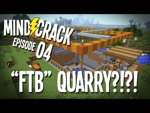 "Mindcrack Ep 4 – ""A Feed The Beast Quarry…In Vanilla Minecraft?!?!"" Minecraft Survival Multiplayer – 2MineCraft.com"