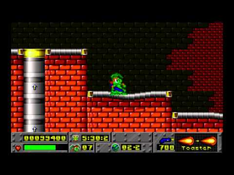 Jazz Jackrabbit Episode 1: Turtle Terror Tubelectric level 2 1994 Epic Megagames HD