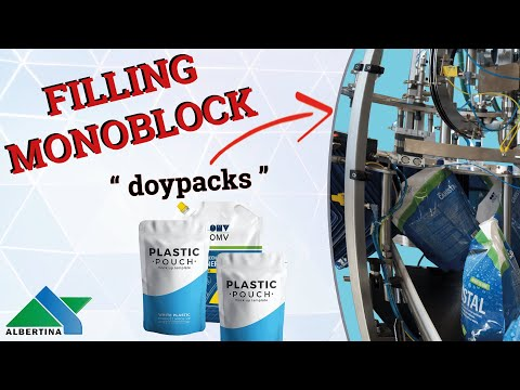 Albertina - Rotary machine for filling and capping of Doypacks