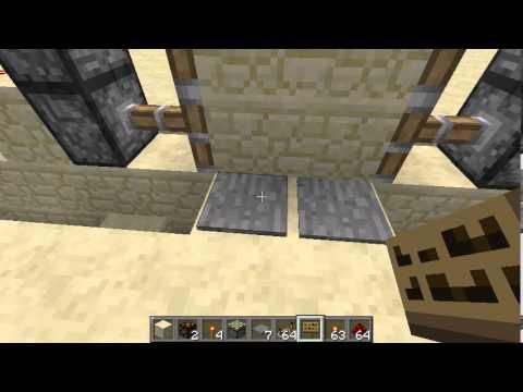 Como crear una puerta que se abre sola minecraft youtube for Puerta que se abre sola