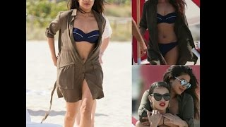 Priyanka Chopra with Adriana Lima Hot at Miami Beach
