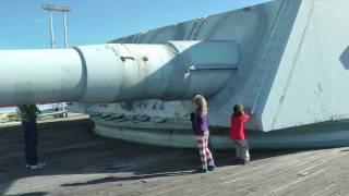 Battleship USS IOWA - Armed with Nine 16 inch Guns