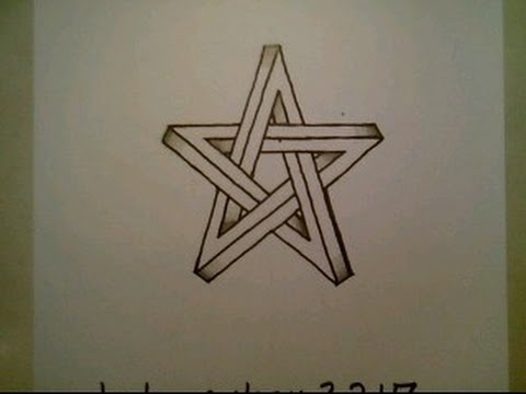 How To Draw The Impossible Star Easy 3D Optical Illusion Shape Step By Step