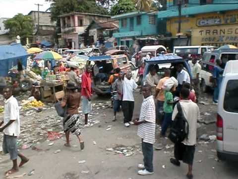 Driving Through Port-Au-Prince Haiti - Post Earthquake