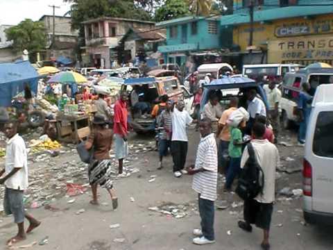 Driving Through Port-Au-Prince Haiti - Post Earthquake