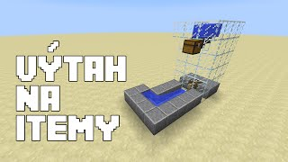 Minecraft tutoriál: Výtah na itemy (Item elevator)