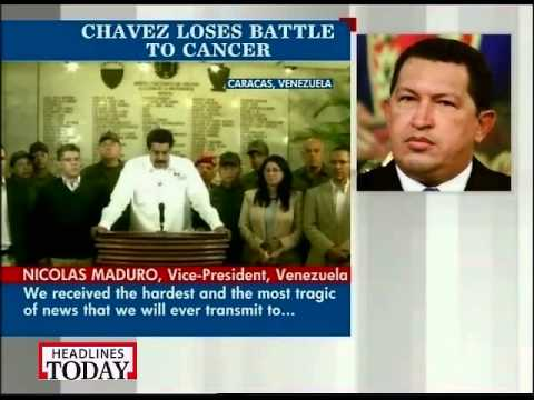 Venezuelan president Hugo Chavez passes away after battling cancer
