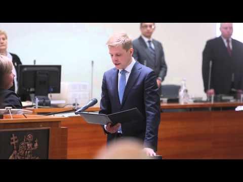 Prisiekė naujoji Vilniaus miesto taryba ir meras Remigijus Šimašius