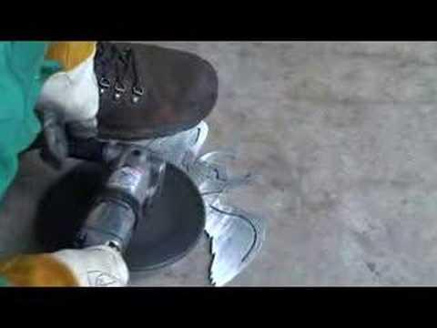 CNC Stomp Pad 7   Part Grinding   CNC Plasma Video Tutorial