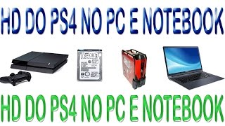 COMO FORMATA O HD DO PS4 PARA FUNCIONAR NO PC E NOTEBOOK