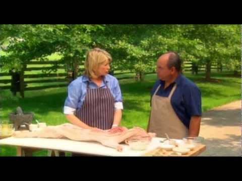 Martha Stewart Cooks Using La Caja China Pig Roaster!