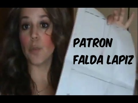 Patron Falda Lapiz   -- Pencil Skirt Pattern