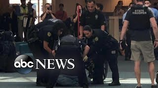 Panic at an Orlando airport after man tries to bypass security checkpoint