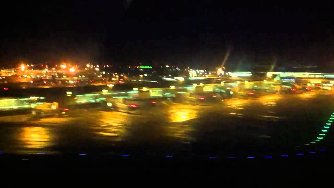 Dublin Airport at Night Night Landing at Dublin