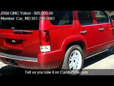 2008 GMC Yukon   Armored - for sale in Rockville, MD 20850