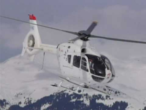Helicopter EC 135 Eurocopter french alp SAF hélicoptères