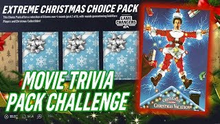 CHRISTMAS VACATION TRIVIA PACK CHALLENGE + GIVEAWAY! | NHL 19 PACK OPENING