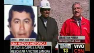 Thumb Video del Presidente EVO MORALES en el Rescate de los 33 Mineros de Chile