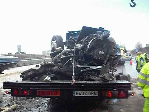 Accidente en la carretera A2 Km 22