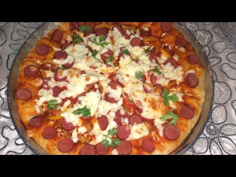 طريقة عمل البيتزا بحشو الهوت دوج بطعم رائع جدا thumbnail