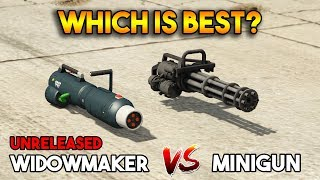 GTA 5 ONLINE : WIDOWMAKER VS MINIGUN (WHICH IS BEST?)