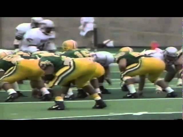 Oregon FB Juan Shedrick 13 yard run vs. WSU 9-07-1991