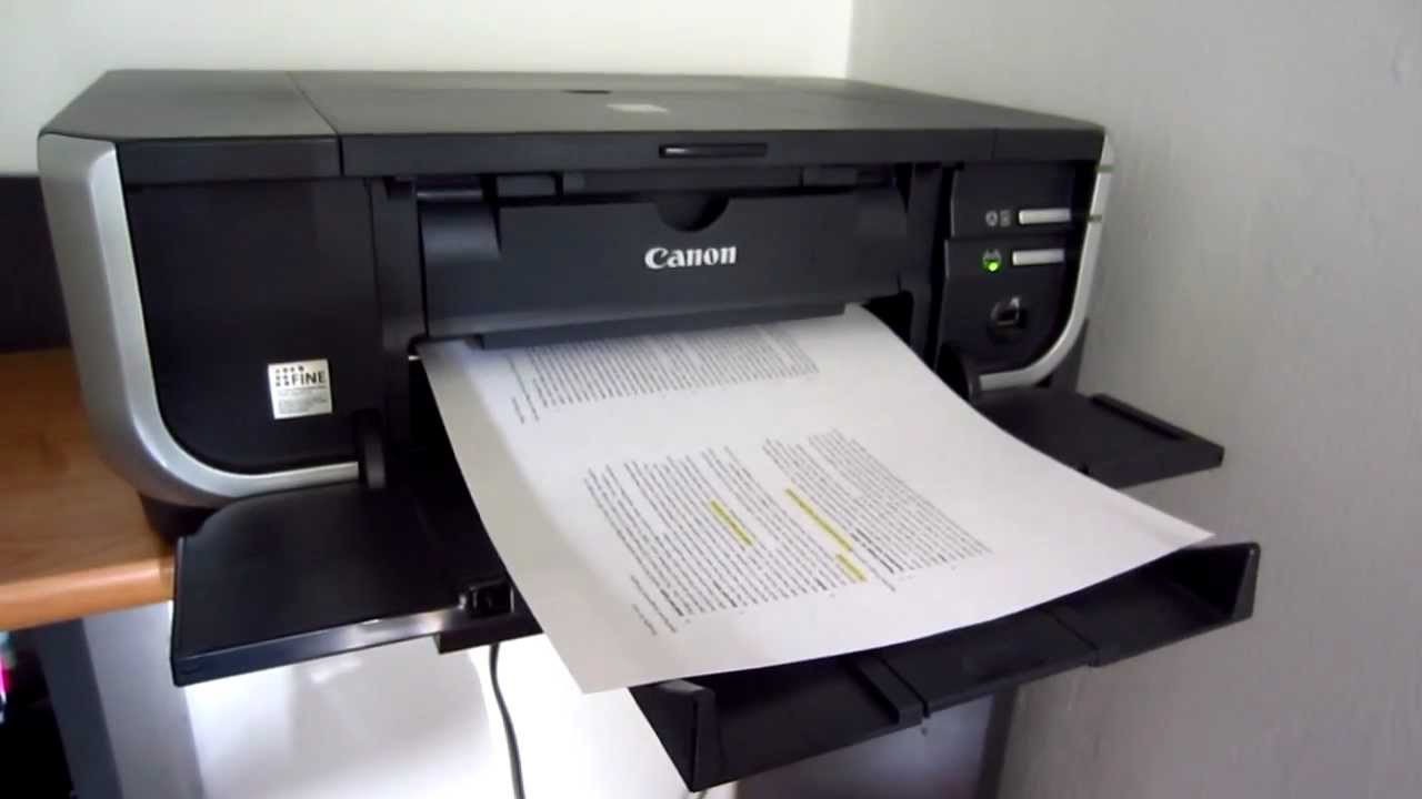how to put paper in a canon printer