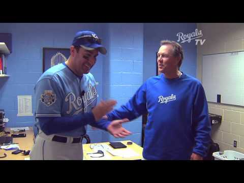 Rob Riggle visits the Royals Spring Training camp