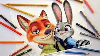 Speed Drawing: Nick e Judy (Zootopia)