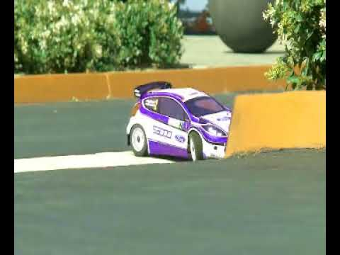 Carrera de mini coches de gasolina a radio control rc