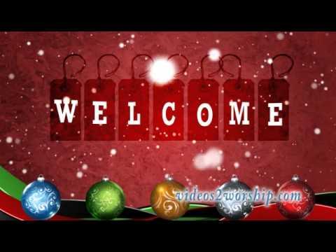 Holidays Welcome Animated Background - YouTube