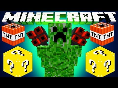 Minecraft Mods : Lucky Block Boss Challenge - Beast Creeper! video