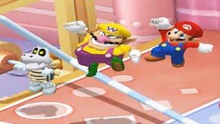 Mario Party 7 - 8 Player Ice Battle - Dry Bones Wario Mario Peach Yoshi All Mini Games (Master CPU)