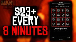 $23 EVERY 8 MINUTES IN RED DEAD REDEMPTION ONLINE (RDR2 ONLINE MONEY METHOD)