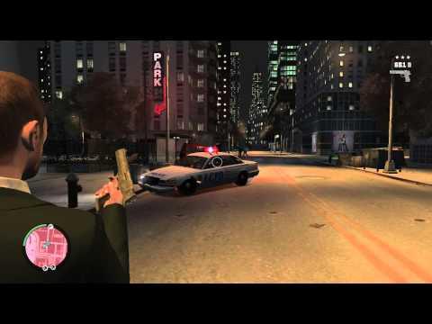Расстрел полицейских GTA 4.