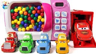 Learning Color Disney Cars Lightning McQueen magic microwave Nursery Rhyme Play for kids car toys