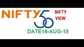 NIFTY VIEW FOR 16-AUGUST-2018: JIO PHONE 2 LAUNCH : JIO GIGAFIBER REGISTRATION STARTED