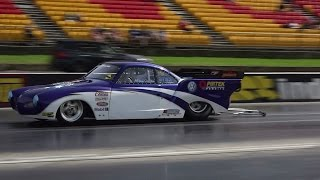 CUSTOM BUGS AND BUSES 9 SEC KARMANN GHIA AT SYDNEY DRAGWAY 18.4.2015