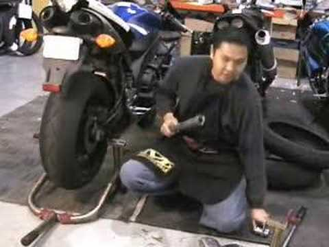 Motorcycle Rear Wheel Removal Youtube