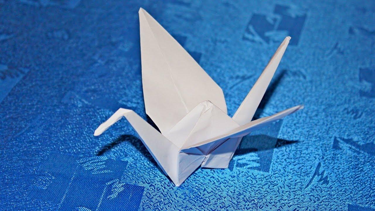 Поделка журавль из бумаги оригами