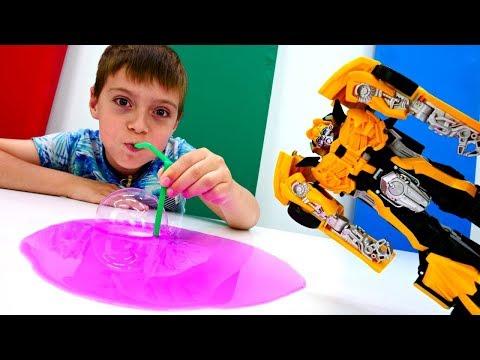 Трансформеры - Мультики для мальчиков. Мегатрон превратил животных в Десептиконов!