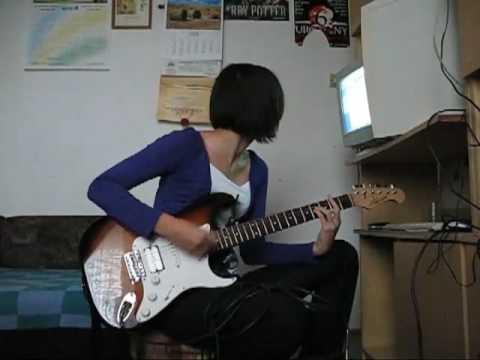 Formacja Nieżywych Schabuff - Ławka. Gra Na Gitarze Elektrycznej Stratocaster J&D,