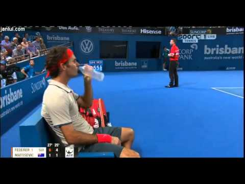 Roger Federer vs Marinko Matosevic - ATP Brisbane International 2014 Highlights-QF