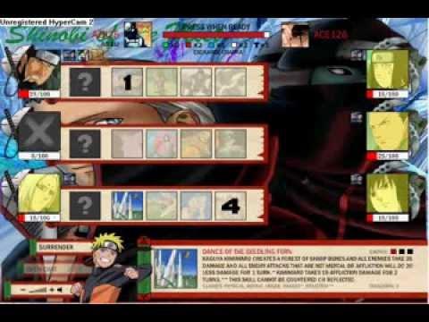 Naruto-Arena - Azh25 vs Ace126 (Clan Member)