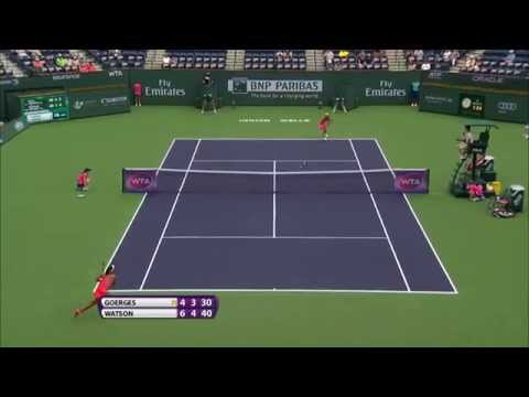 2015 Heather Watson Hits Hot Shot