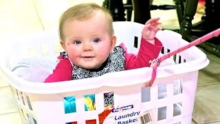 BABY IN LAUNDRY BASKET!