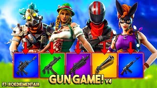 1v1v1v1 GUN GAME BATTLE v4!! - Fortnite Playground ft. Rudi, Eva & Jacco (Nederlands)