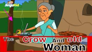 The Crow and The Old Woman - Marathi | कावळा आणि म्हातारी - आजीबाईच्या गोष्टी | Kids Moral Story