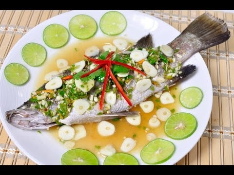 Thai Food] Steamed sea bass with lemon sauce (Pla Kra Pong Neung Ma ...